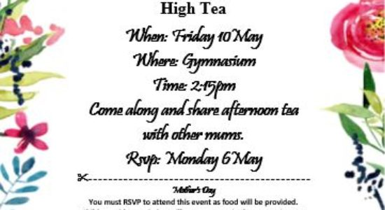 Mother's Day High Tea!