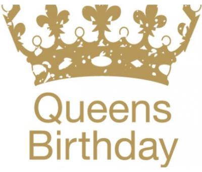Queens Birthday-No School
