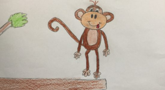 210 |  Draw a Cartoon Monkey