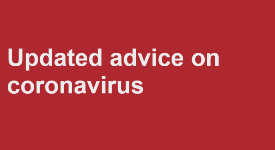 Updated Advice  COVID-19