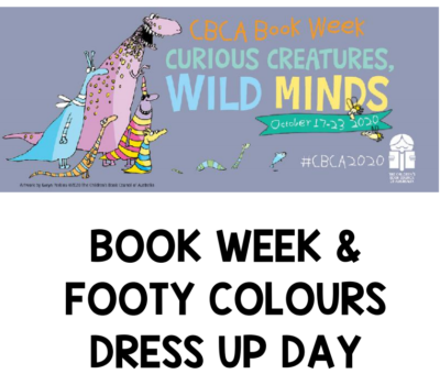 Book Week and Footy Colours Dress Up Day